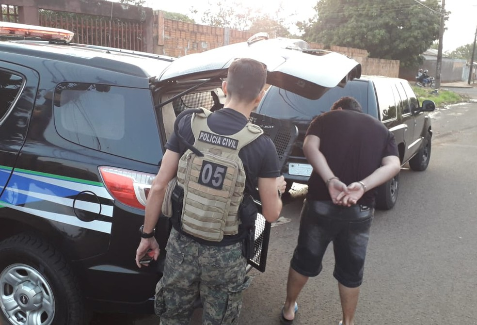 Técnico de informática é um dos presos em ação contra pornografia infantil em Campo Grande — Foto: Polícia Civil do MS/Divulgação