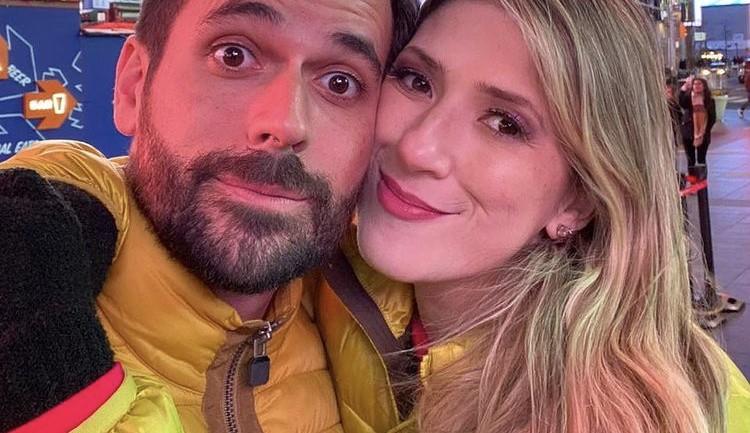Dani Calabresa e o noivo, Richard Neuman (Foto: Reprodução)