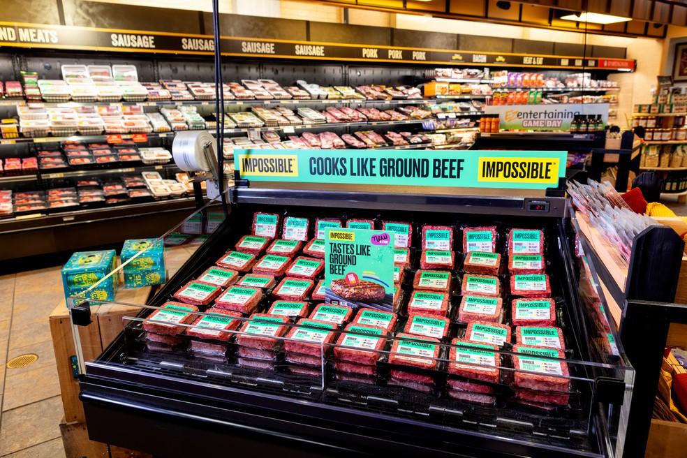 Venda de hamburguer vegetal em supermercado dos Estados Unidos — Foto: Divulgação