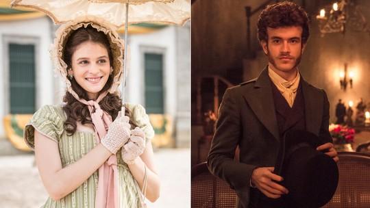 Lara Tremouroux e Vitor Thiré mostram caracterização de personagens