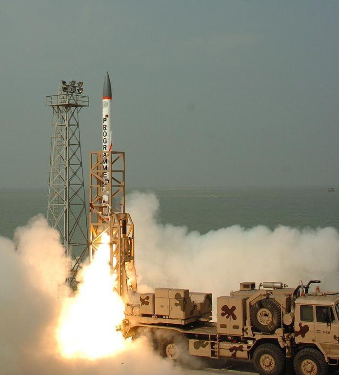 Míssil AAD indiano usado em um teste em 2007 (Foto: Sniperz11/Wikimedia Commons)