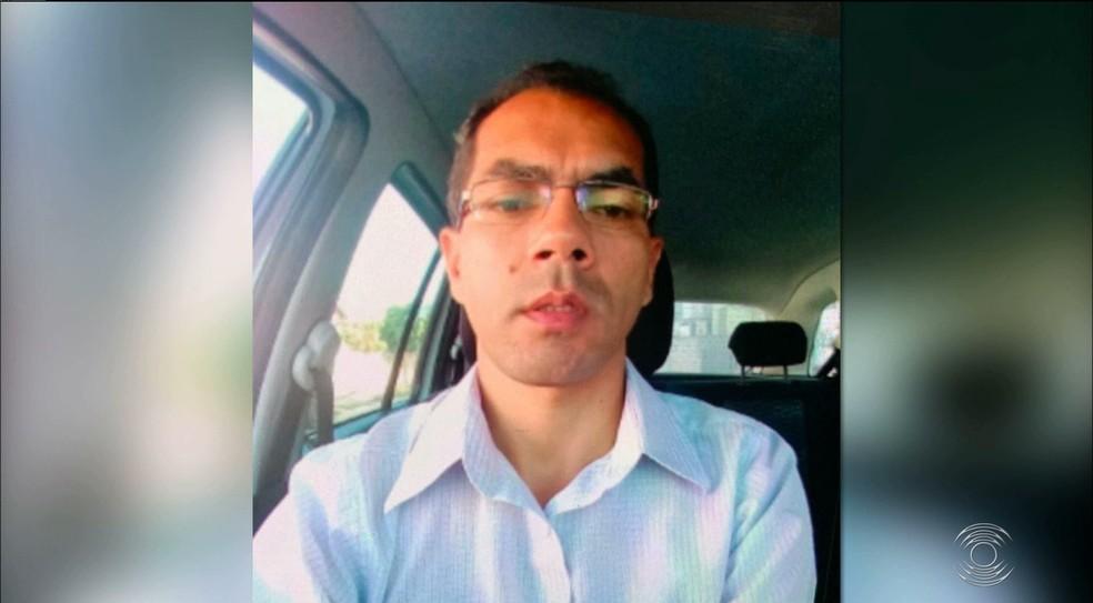 Taxista Paulo Damião foi assassinado a tiros durante briga de trânsito — Foto: TV Cabo Branco/Reprodução