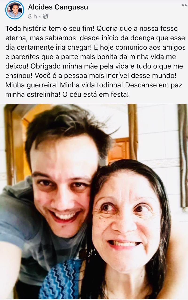 Mãe de professor que fazia posts emocionantes com ela nas redes sociais morre de insuficiência cardíaca