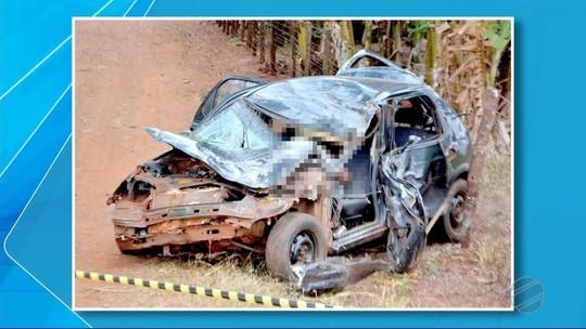 Jovem morre após perder controle de direção em curva e bater veículo no anel viário de Fátima do Sul, MS