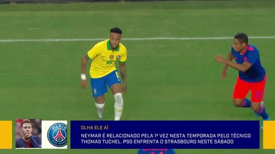 Neymar treina com o gurpo e é relacionado para partida do PSG pelo Campeonato Francês