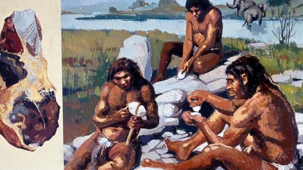 É possível que os neandertais tenham tido um sistema de comunicação verbal parecido com o dos humanos — Foto: Getty Images via BBC