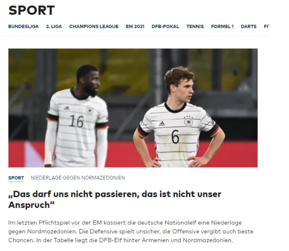 Welt - Alemanha x Macedônia do Norte — Foto: Reprodução / Internet
