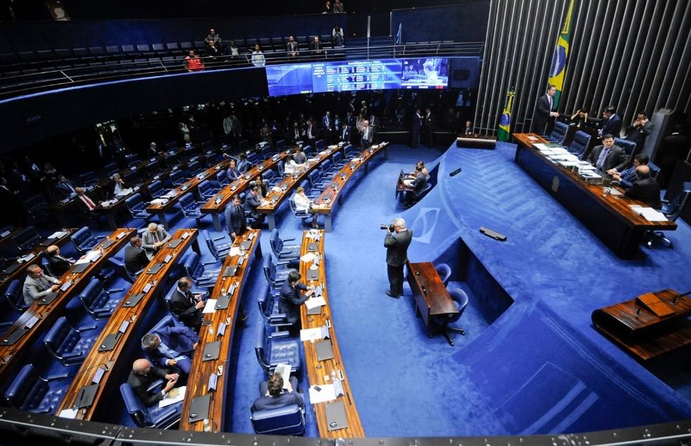O projeto foi aprovado pelo Senado e segue para aprovação presidencial — Foto: Jonas Pereira/Agência Senado