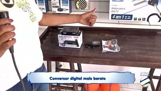 Lojas se juntam para vender conversores de TV digital em Rondonópolis