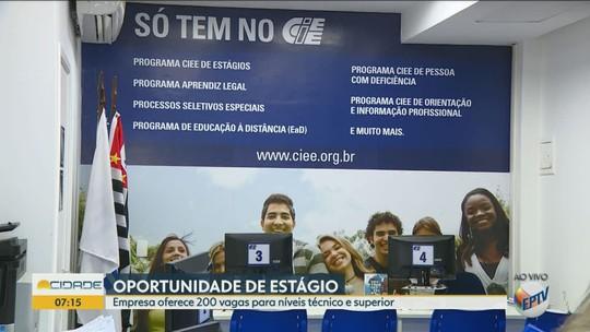 Ciee seleciona estudantes de nível superior e técnico para 200 vagas de estágio em Campinas