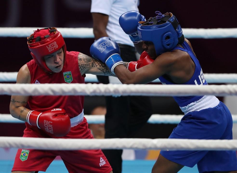 Beatriz Ferreira garantiu a classificação para a final dos Jogos Pan-Americanos — Foto: REUTERS/Ivan Alvarado
