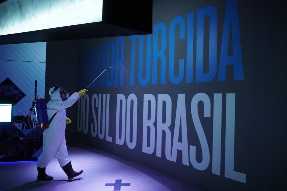 Arena do Grêmio reabre tour — Foto: Thiago Iessim/Camejo Comunicação