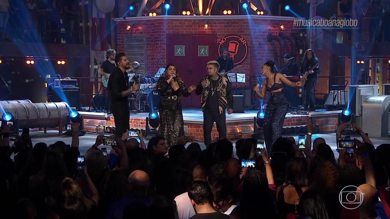 IZA, Banda Eva, Preta Gil e Rodriguinho cantam 'Palco'