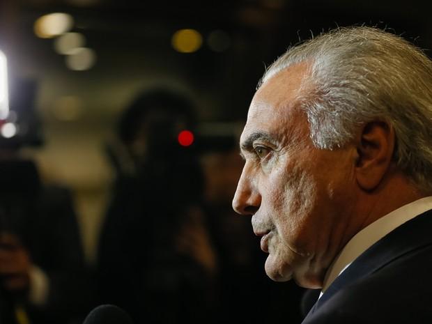 O pesidente Michel Temer concedeu entrevista coletiva à imprensa brasileira no Japão (Foto: Beto Barata/PR)