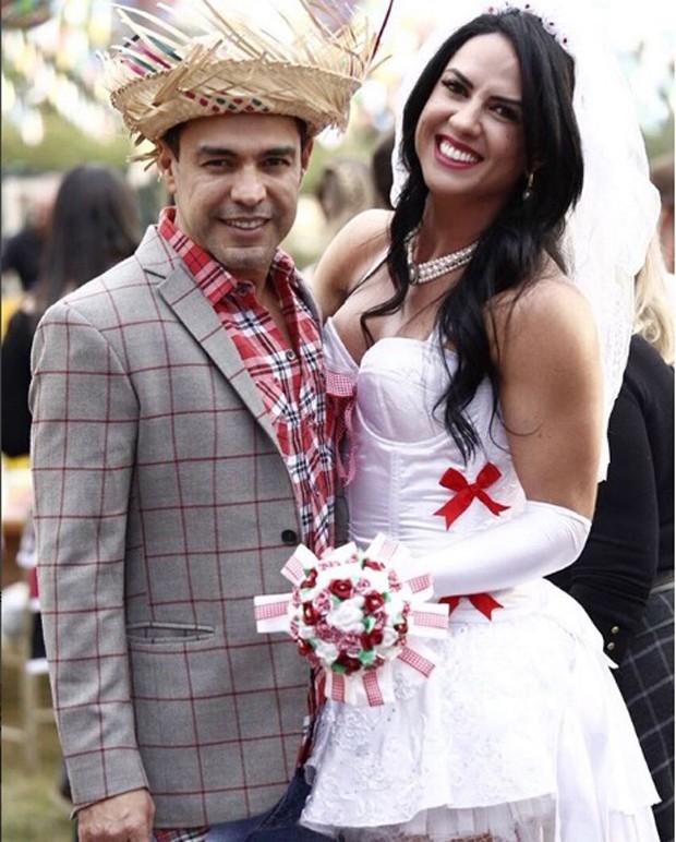 Zezé Di Camargo e Graciele Lacerda  (Foto: reprodução / Instagram)