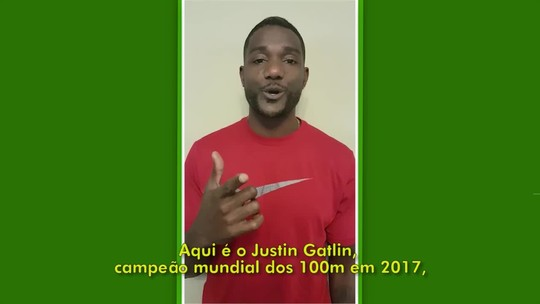 Gatlin Contra o Tempo: pista está quase pronta e torcida ficará colada aos atletas