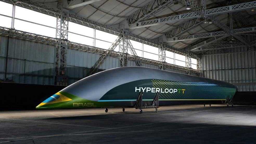 Tecnologia pode fazer rota entre Porto Alegre e Caxias do Sul em 12 minutos — Foto: HyperloopTT/Divulgação