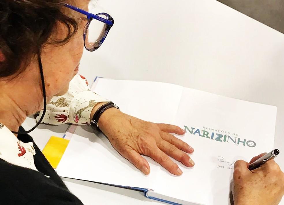 Pesquisadora tem vasto conhecimento sobre a trajetória do autor do Sítio do Picapau Amarelo — Foto: Colégio Uirapuru/Divulgação