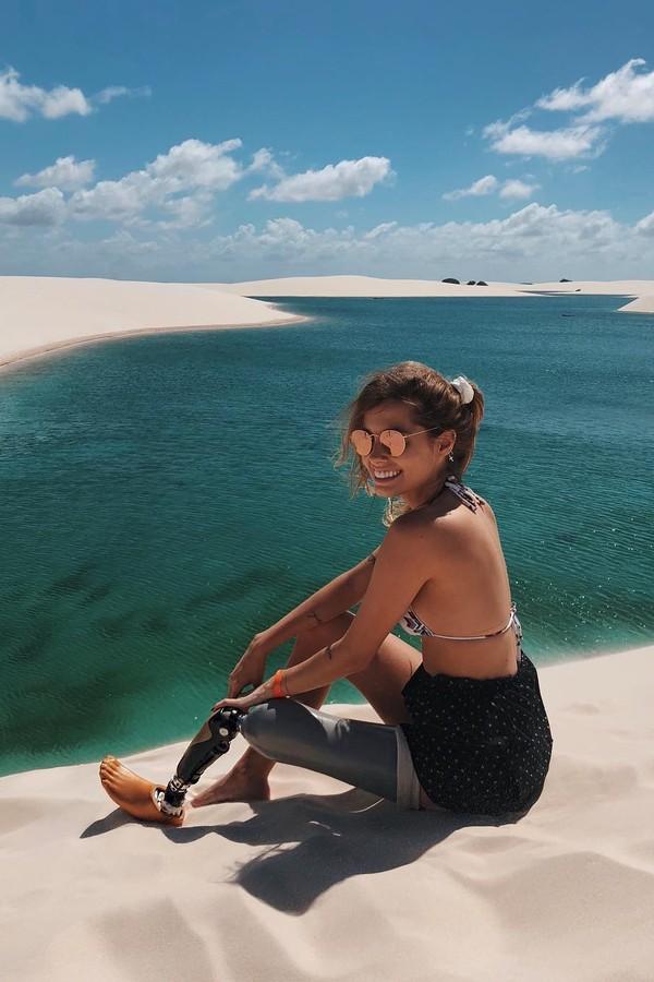 Paola Antonini nos Lençóis Maranhenses (Foto: Instagram/Reprodução)
