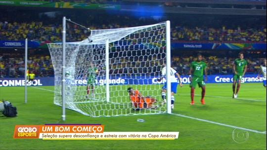 Brasil vence Bolívia na estreia da Copa América
