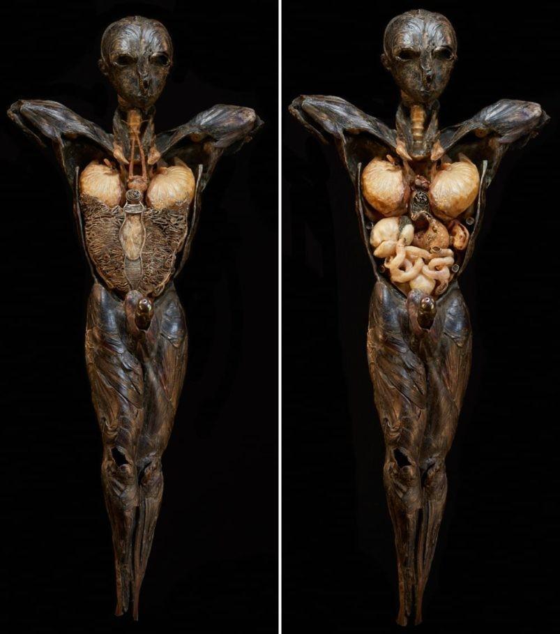 Escultura Adam, a qual a artista estava fazendo quando começou a sentir os sintomas da intoxicação (Foto: Reprodução/ Toronto Life)