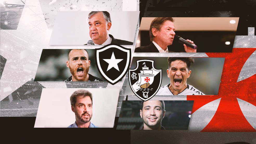 Botafogo e Vasco medem forças na final da Taça Rio antes do início da Série B — Foto: ge