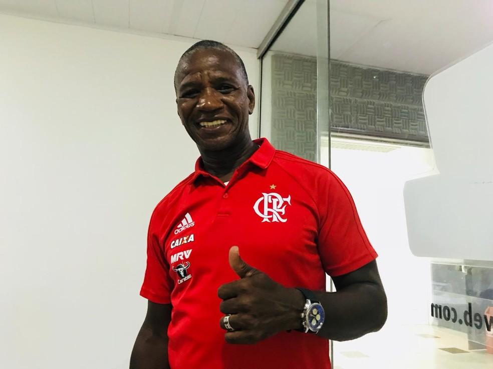 Ídolo do Flamengo, Adílio é o convidado especial desta edição da Copa Fla Nordeste — Foto: Viviane Leão/GloboEsporte.com