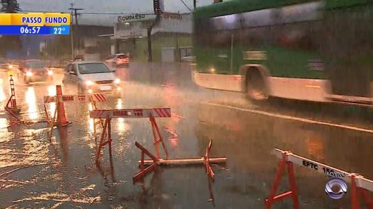 Temporal e ventos de mais de 100 km/h causam estragos no Rio Grande do Sul