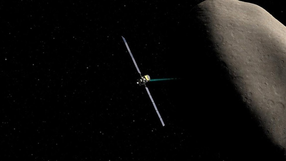 Nave Dawn orbitou o asteroide Ceres  (Foto: NASA)