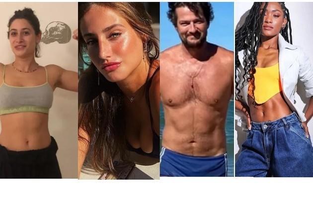 Luisa Arraes ganhou músculos para o filme 'Grande Sertão'; Bruna Griphao perdeu para 'Nos tempos do Imperador', Marcelo Serrado emagreceu 6kg para 'Cara e coragem' e Erika Januza ficou mais magra para 'Verdades secretas' 2 (Foto: Reprodução/Instagram)