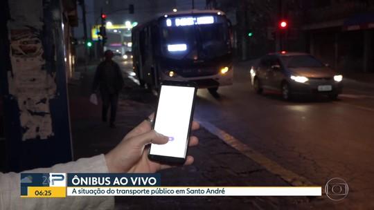 Problemas nos ônibus em Santo André