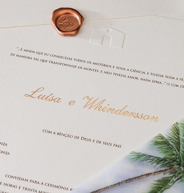 Convite do casamento de Luisa e Whindersson (Foto: Reprodução/Instagram)