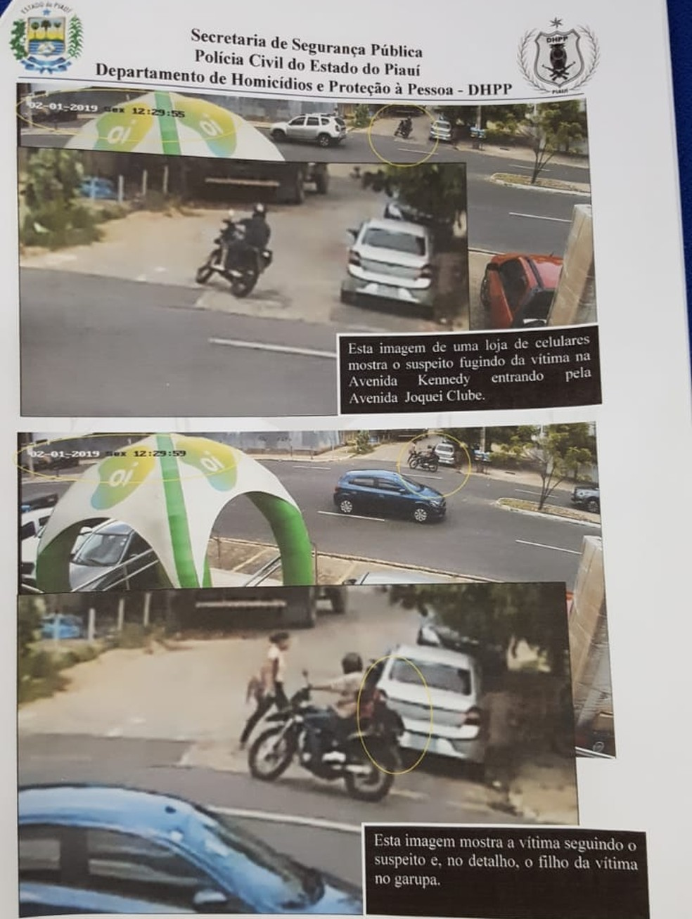 Relatório mostra dinâmica do crime contra cabo Samuel Borges. — Foto: Divulgação/Polícia Civil