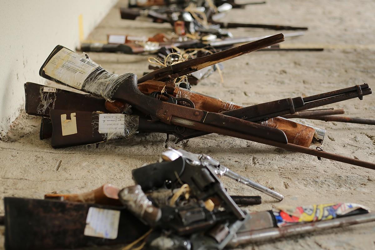 Justiça encaminha para destruição mais 200 armas apreendidas em Alagoas - Notícias - Plantão Diário