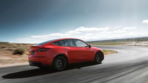 Model Y, novo carro elétrico da montadora Tesla (Foto: Divulgação/Tesla)