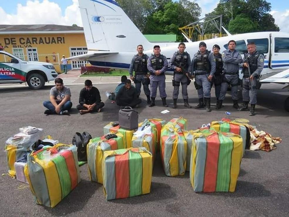Grupo foi preso em Carauari no dia 23 de abril de 2018 — Foto: Divulgação/Polícia Militar