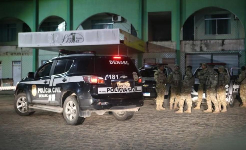 Equipes policiais durante operação em cidades de Sergipe — Foto: Jorge Henrique/SSP/SE