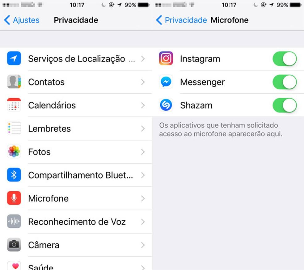 iOS tem maior preocupação com a privacidade do usuário (Foto: Reprodução/Pedro Cardoso)