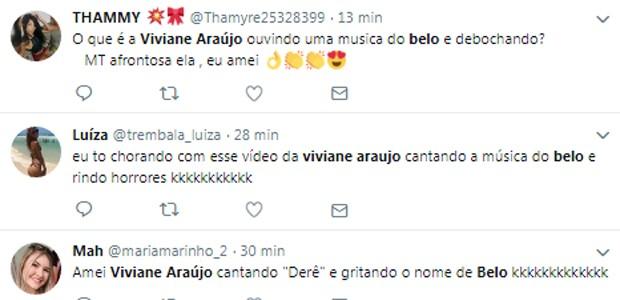 Internautas comentam cantoria de Viviane Araújo (Foto: Reprodução/Instagram)