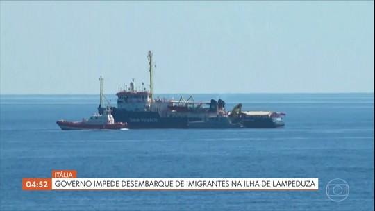 Governo da Itália impede o desembarque de imigrantes na ilha de Lampeduza