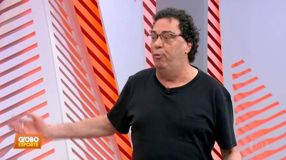 Casagrande participou do Globo Esporte SP desta terça-feira — Foto: Reprodução