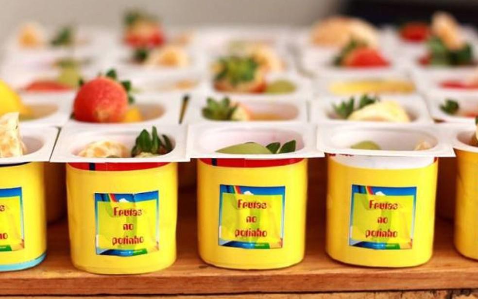 Alimentação saudável e reutilização de materiais é incentivada na festa ecológica (Foto: Thais Figueiredo)