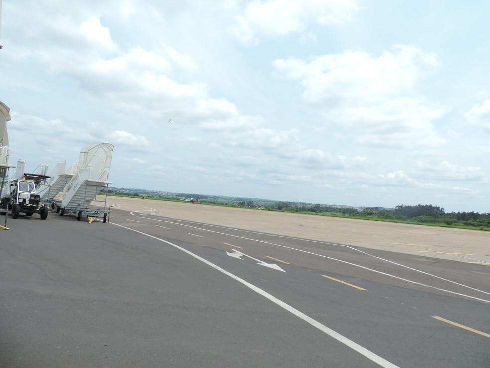 Aeroporto Estadual de Presidente Prudente está na lista de privatizações — Foto: João Alberto Pedrini/G1