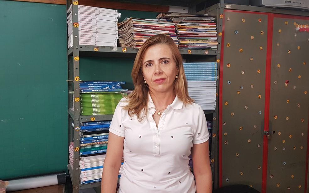 Professora Kátia Martins diz que busca sempre diálogo e conciliação com os alunos (Foto: Flávia Cristini/G1)