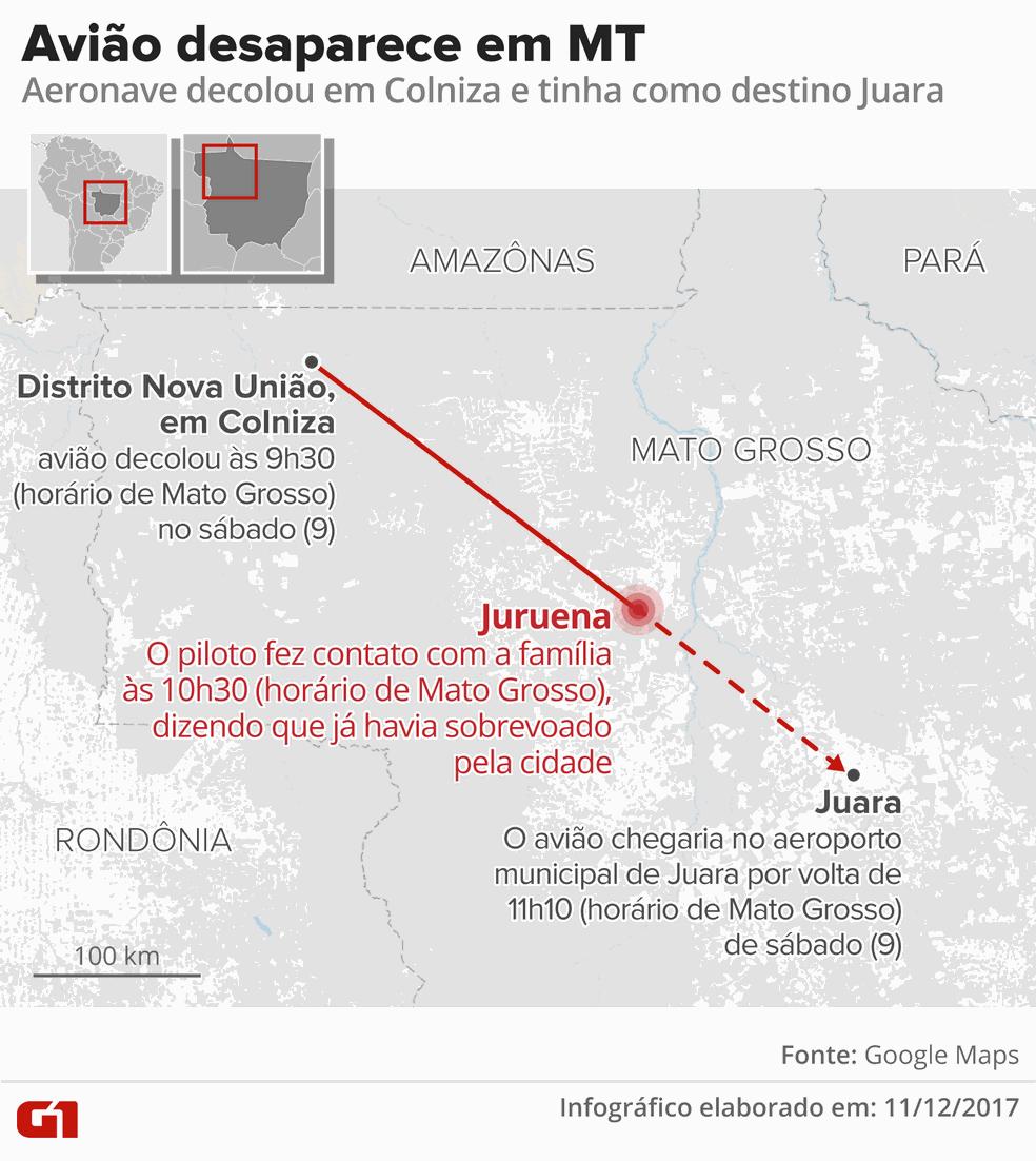 Avião desaparecido em Mato Grosso (Foto: G1 MT)