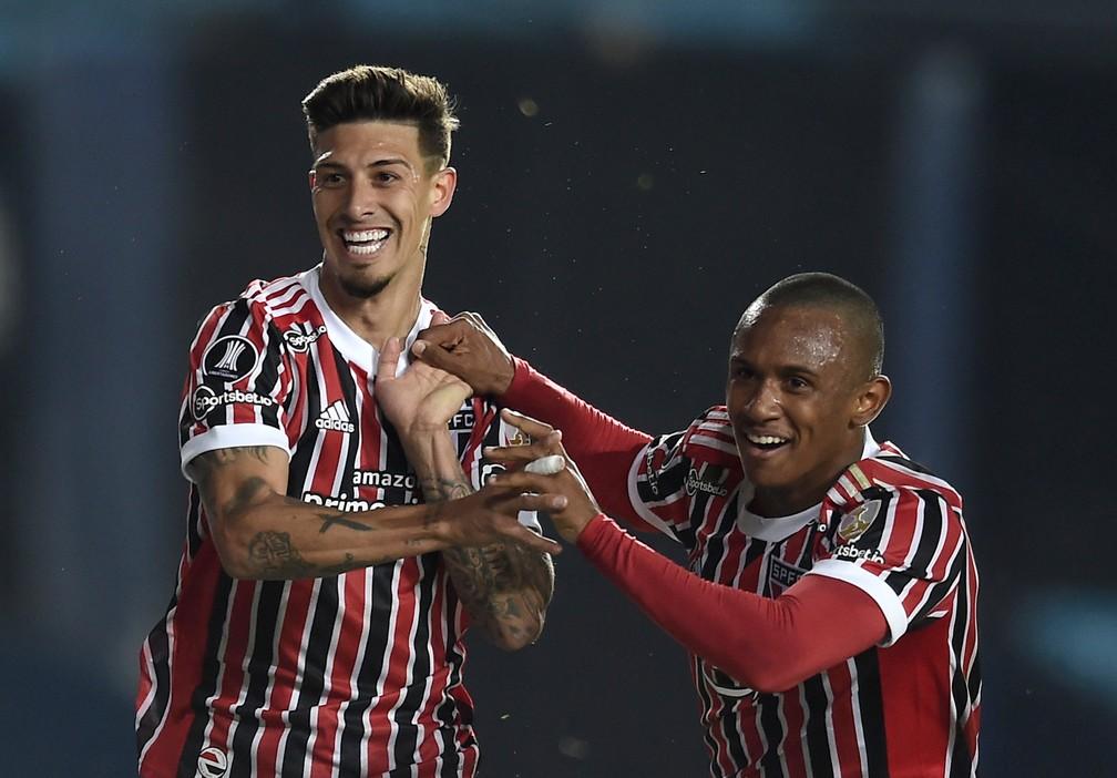São Paulo cresceu com Rigoni e Marquinhos — Foto: Reuters