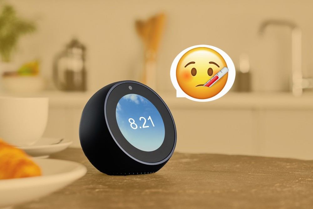 An Amazon Echo Spot smart speaker photographed on a kitchen counter, taken on January 9, 2019. (Photo by Olly Curtis/Future Publishing via Getty Images) (Foto: Future Publishing)