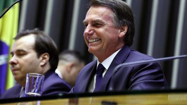Jair Bolsonaro durante cerimônia de posse, no Congresso Nacional (Foto: Cleia Viana/Câmara dos Deputados)