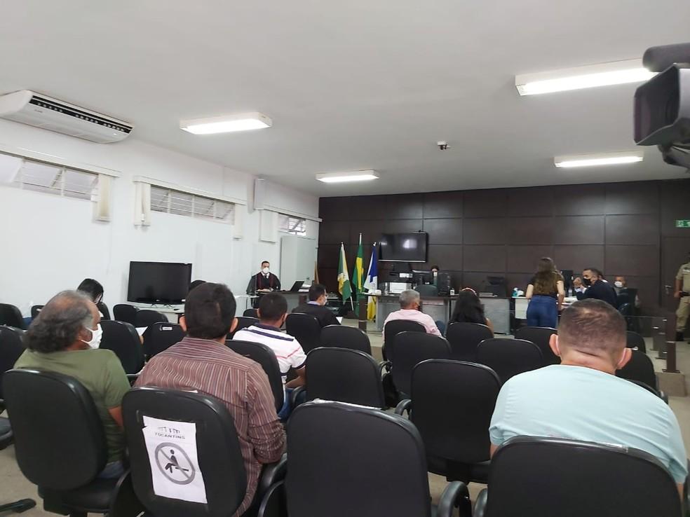 Julgamento está acontecendo em Gurupi — Foto: Jairo Santos/TV Anhanguera