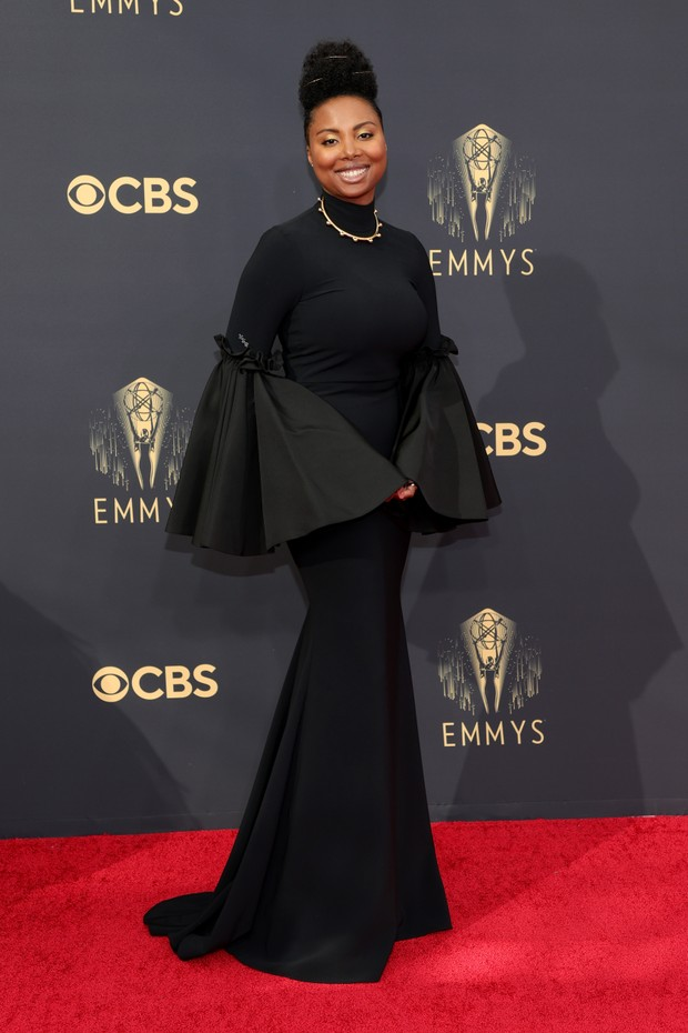 LOS ANGELES, CALIFORNIA - SEPTEMBER 19: Misha Green attends the 73rd Primetime Emmy Awards at L.A. LIVE on September 19, 2021 in Los Angeles, California. (Photo by Rich Fury/Getty Images) (Foto: Getty Images)